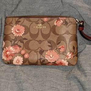 Floral Coach Wristlet, Like New